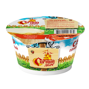 """Сыр плавленый в стакане """"Чизбрейк"""" со вкусом и ароматом крабов"""
