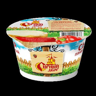 """Сыр плавленый в стакане """"Чизбрейк"""" со вкусом и ароматом сладкой паприки с кусочками"""