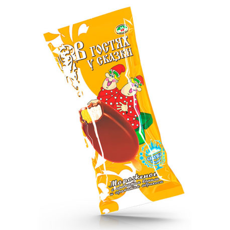 Сливочное «В гостях у сказки» двухслойное  с ароматом ванили и с ароматом абрикоса