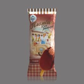 Пломбир «Как раньше» с какао в какао содержащей глазури