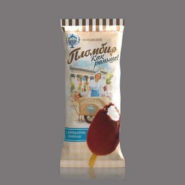 Пломбир «Как раньше» с ароматом ванили в какао содержащей глазури