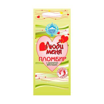 Пломбир с ароматом фисташек «Люби меня» 500г